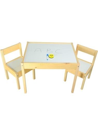 Beros Çocuk Masa Sandalye Takımı- Yaz Sil Yüzeyli BRS018 Renkli